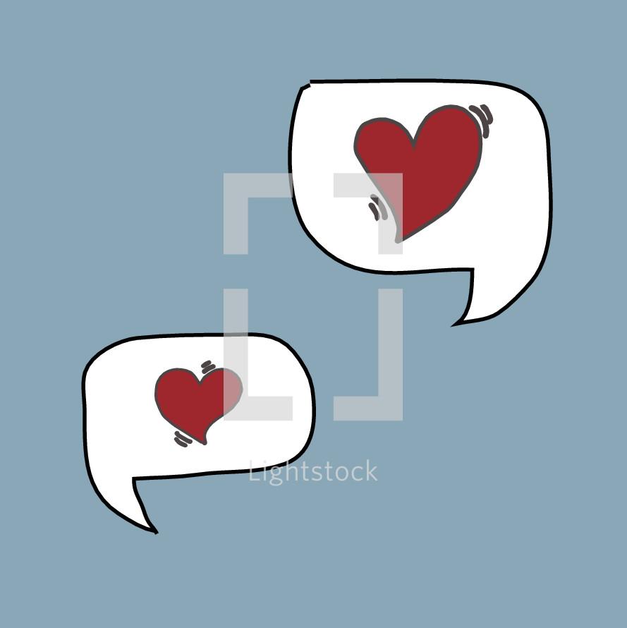 love talk icons