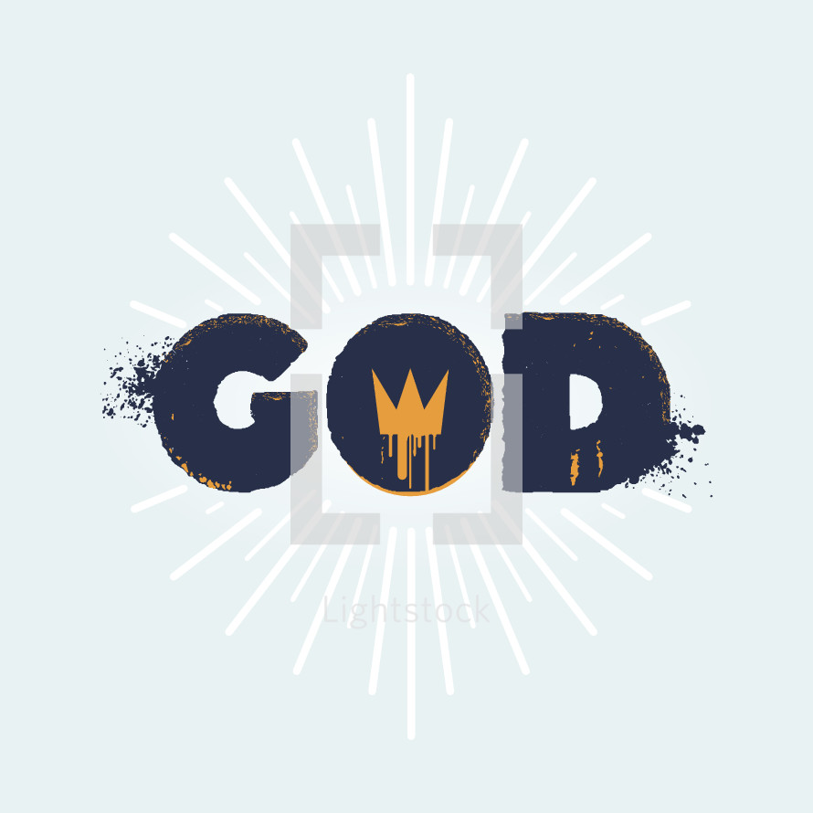 word God with crown