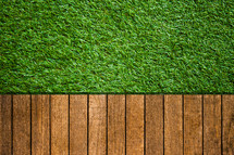 astroturf and decking