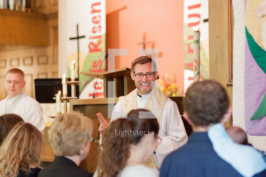 people receiving communion
