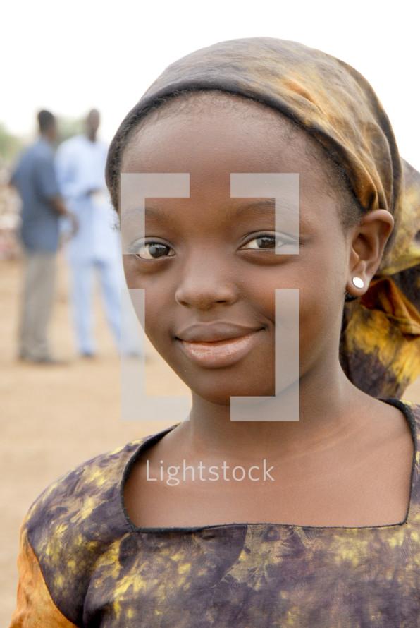 Smiling African gir.