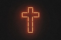 neon lights cross