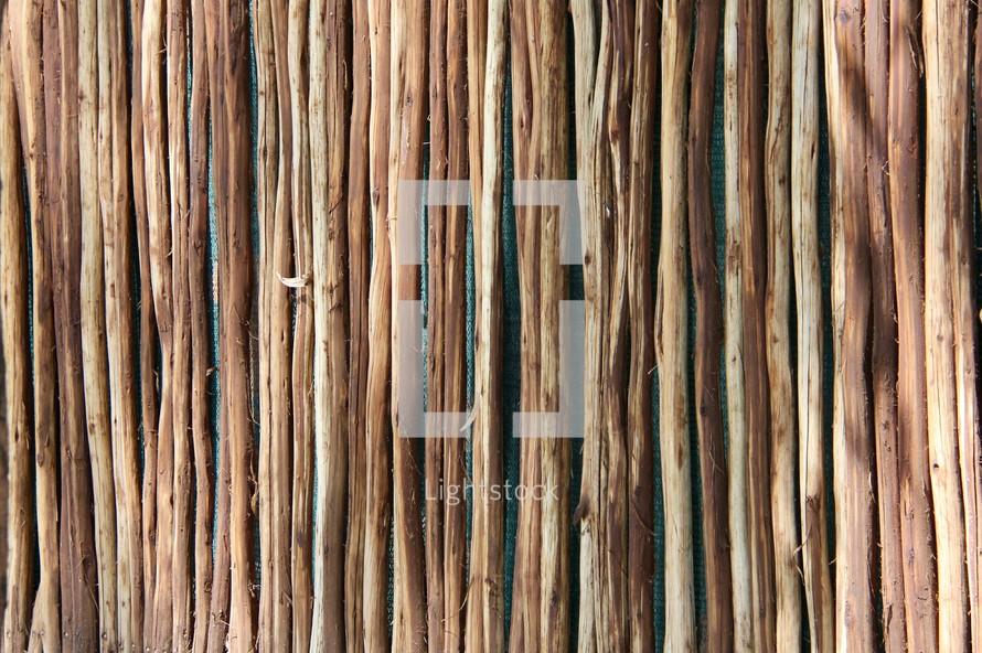 row of sticks texture