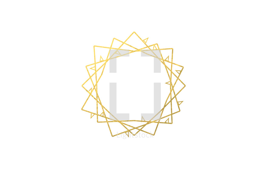 abstract crown of thorns in gold