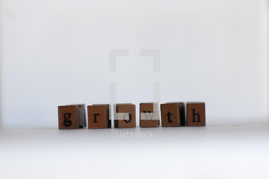growth letter blocks