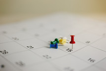 tack on a calendar for tax day