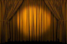 closed curtains - performing arts