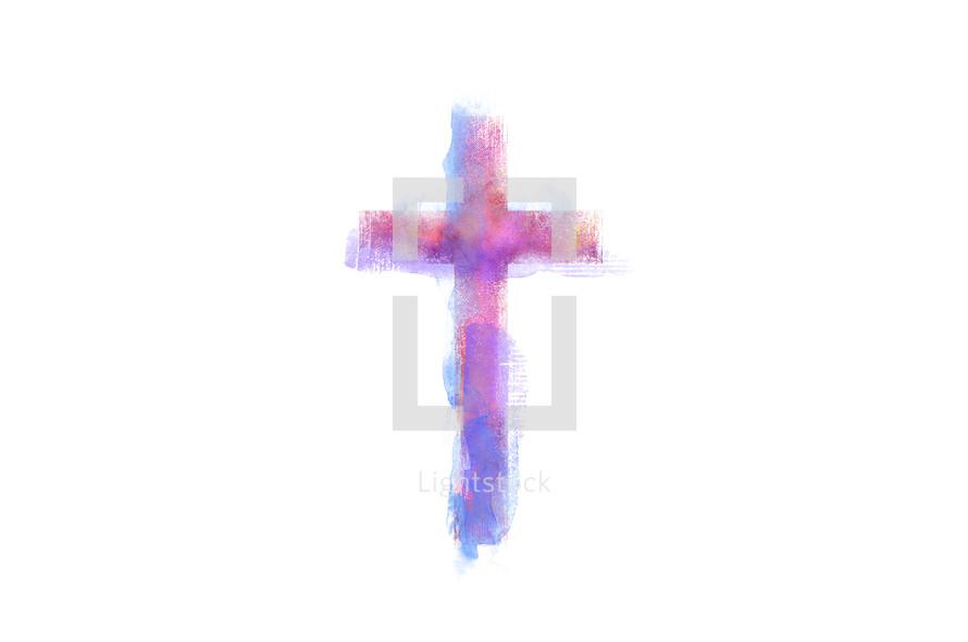 watercolor cross
