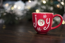 marshmallows and hot cocoa in a red mug