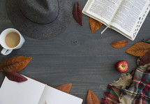 fall border for a Bible study