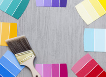 paint swatches background and border