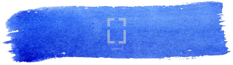 blue watercolor streak