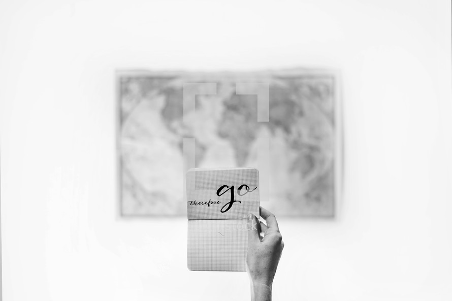 world map and therefore go note