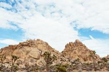 rock peaks in Joshua tree