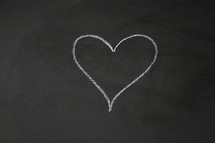 heart on a chalkboard