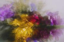 blurry flower arrangement