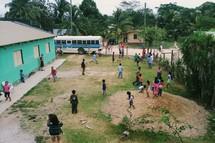 Kids Club on a mission trip in Belize.