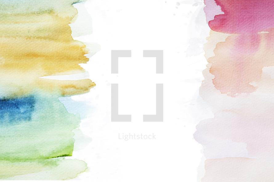 pastel watercolor border