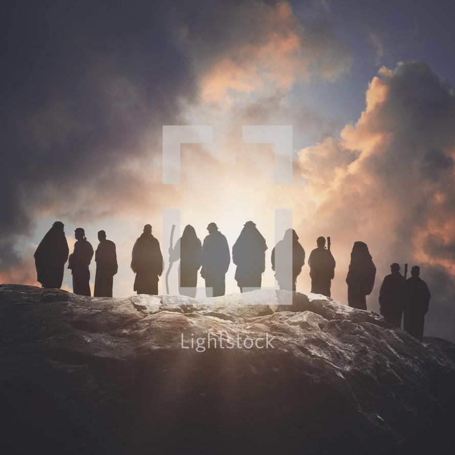 silhouettes of the Apostles