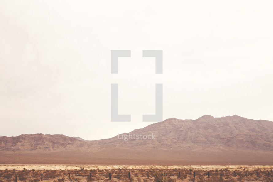 desert landscape and mountains
