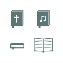 Bible and hymnal icons