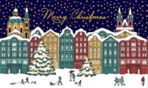 Merry Christmas and winter scene