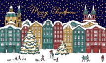 Merry Christmas and winter scene