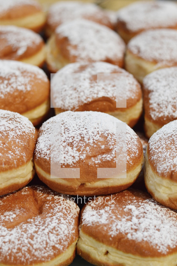 jelly filled fried German donuts