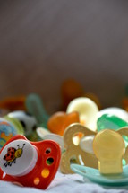 A set of pacifiers.