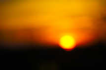 Blurred sunset, abstract dusk