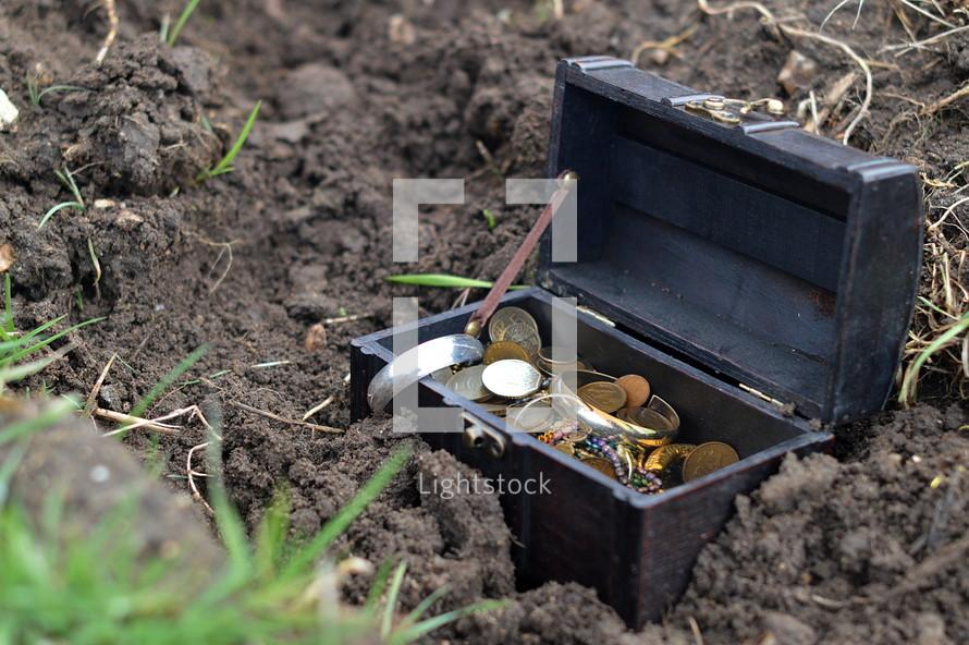 buried treasure - The Parable of the Hidden Treasure in Matthew 13:44