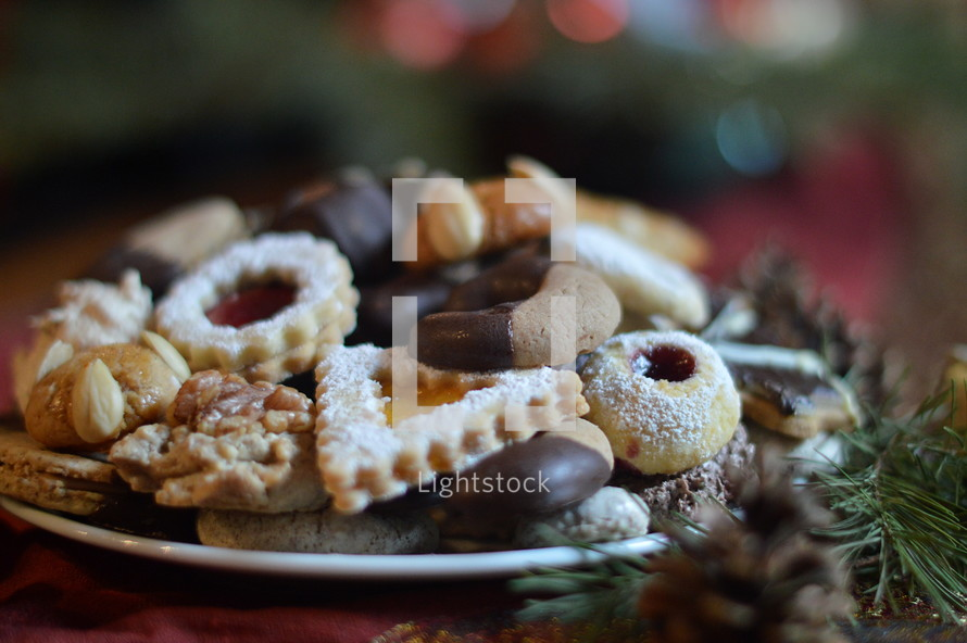 holiday cookies on a plate
