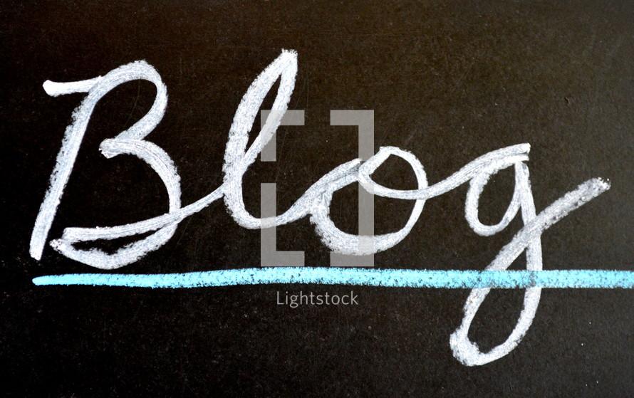 blog in chalk