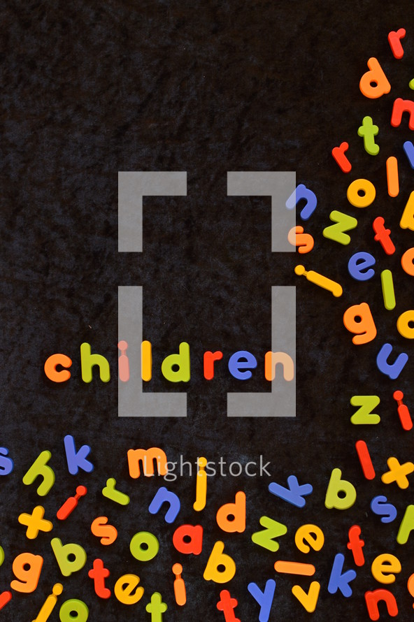 word children in refrigerator magnets