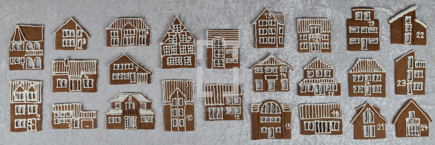 gingerbread house cookies Christmas countdown