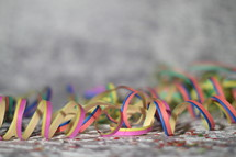 colorful paper streamers.