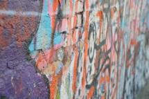 graffiti street art painted urban wall