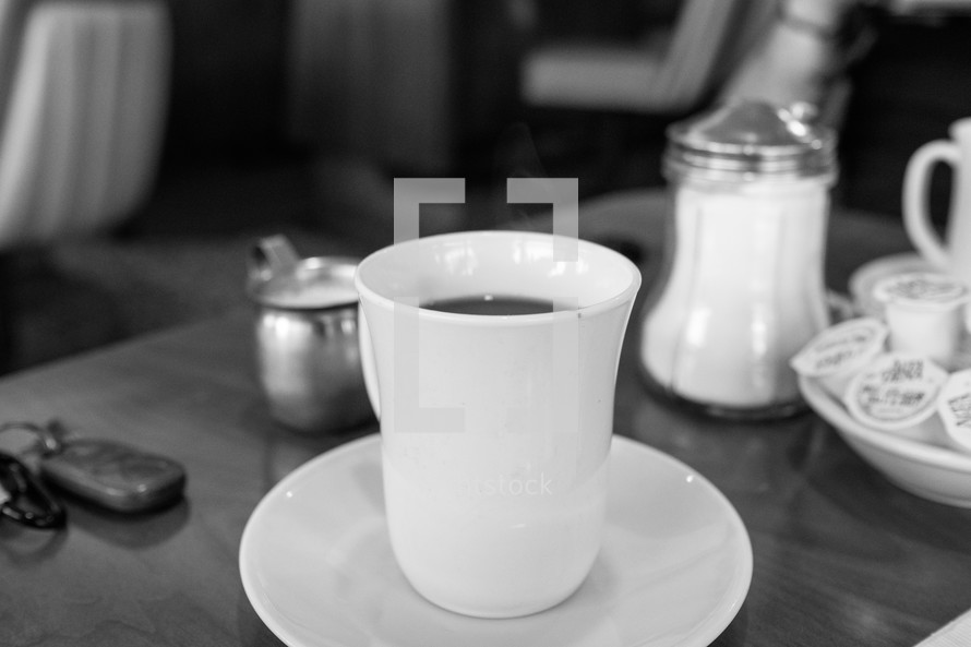 coffee cup on a countertop