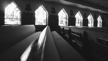 empty pews in a church