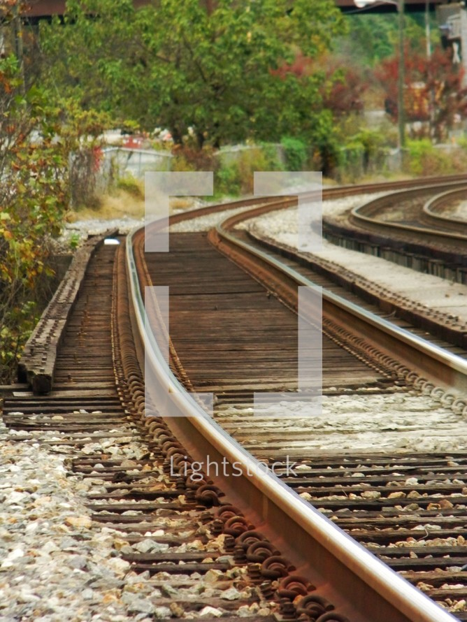 rusty train tracks