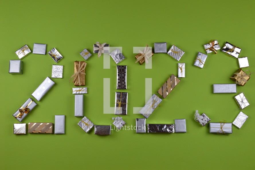 advent gifts in the shape of 2023