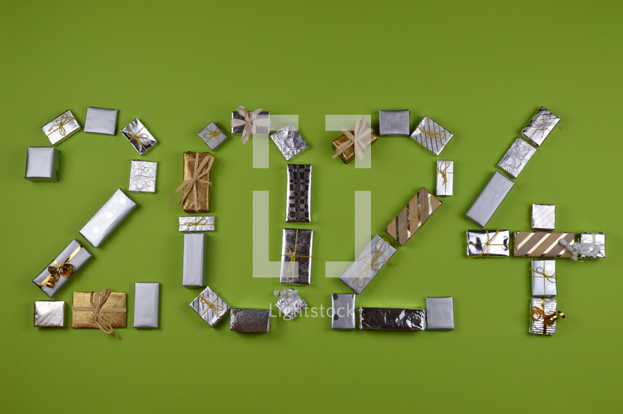 advent gifts in the shape of 2024