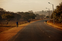A road in Malawi, Africa