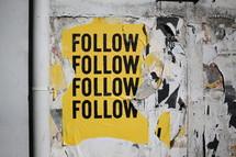 follow, follow, follow