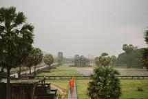Monks in Cambodia.