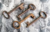 rusty skeleton keys
