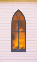 exterior church window