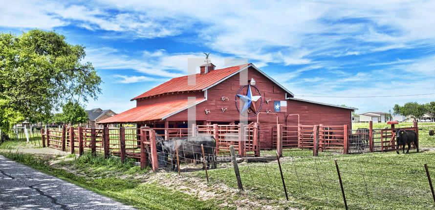 barn on a ranch