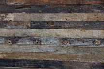Wooden flooring recovered from an ancient warehouse