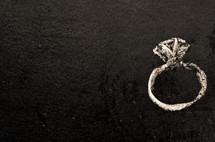 chalk drawing of a diamond ring